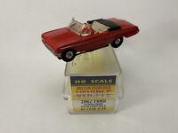 Vintage Aurora Vibrator Red Ford Sunliner Convertible HO Slot Car No. 1548