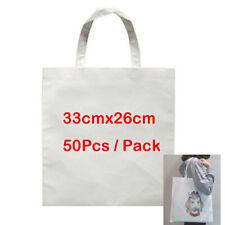 50pcs 13 X 10 Blank Sublimation Shopping Bag For Heat Transfer Diy Printing