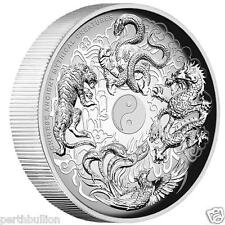 2016 Chinese Mythical Creatures - 1oz Silver Proof High Relief coin - Perth Mint