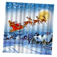 Set 2 Pannelli Per Tende Da Camera Da Letto Per Soggiorno Di Natale 79x55 C