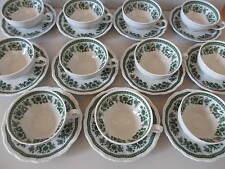 Seltmann Weiden Barock Hubertus grüne Blumen * 11 Teetassen mit Untertassen *