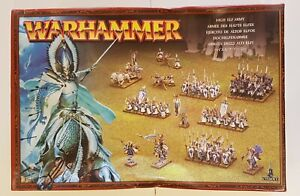 Warhammer Fantasy Battles High Elf Army box - 70 plastic miniatures (unpainted)