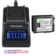 Kastar Battery LCD Quick Charger for Canon BP-808 BP808 & Canon FS40 Camcorder
