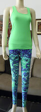 NWOT From Brazil Cotton Sport Workout Top From Moda em Cotton Brand Lime Green