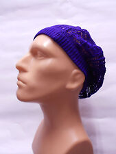 purple man boy classic Fashion Crochet Beanie Hat Knit Beret Skull Cap hat