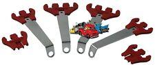 Complete set of Moroso Red Spark plug wire chrome brackets organize loom kit