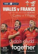 Le Pays de Galles V FRANCE 2004 RUGBY programme 7 mar à Cardiff