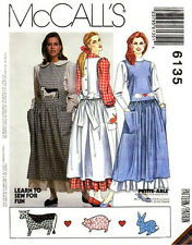 Reduced! McCall's 6135 Miss Jumper Blouse Petticoat Pattern 8-12