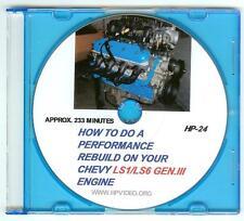 """How to Rebuild your Chevy LS1 LS3 LS6 Gen III Engine LS Motor Video.""""DVD"""""""