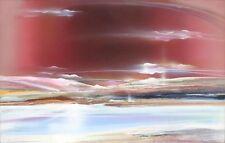 "Elba Alvarez ""Burgundy Landscape"" Original Artwork, Acrylic Painting MAKE OFFER!"