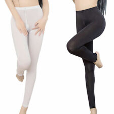Women's See Through Trousers Pants Zip Open Crotch Sheer Skinny Fitness Leggings