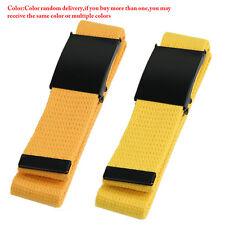 Unisex Waist Belt Mens Boys Plain Webbing Waistband Casual Canvas Belt 10 Colors