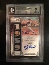 2006 TOPPS STERLING YOGI BERRA AUTO 4/10 GAME USED JERSEY GRADED BGS 9 AUTO 10