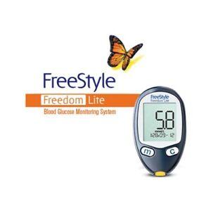 Abbott FreeStyle Freedom Lite Blood Glucose Monitoring System Kit Diabetes Meter