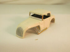 AURORA MODEL MOTORING #1366 WHITE HOT ROD COUPE SHELL W/CHROME PIPES, UNCUT, VN