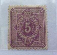 1875 Aquila Impero Tedesco e Mark RICCHI 5 Pfennige TIMBRO MH