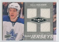 10/11 BLACK DIAMOND QUAD JERSEY NIKOLAI KULEMIN MAPLE LEAFS *52425