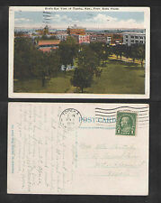 1925 BIRDS EYE VIEW OF TOPEKA KANSAS FROM STATE HOUSE POSTCARD