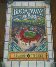 Cincinnati Reds Broadway Commons Poster card stock 18x24 The park that never was