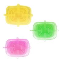 6x Couvertures En Silicone Réutilisables Universelles Pour Micro-ondes Et