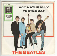 """The Beatles - Act Naturally - Yesterday - 7"""" Single - D 1965"""