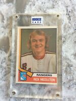1974-75 O-Pee-Chee OPC #304 RICK MIDDLETON RC Rookie Card in case