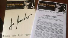 Fabrizio de Andrè cartella stampa la mostra