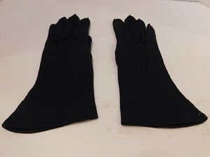 *WEAR RIGHT LADIES NAVY BLUE COTTON DRESS GLOVES UNLINED SIZE 6.5