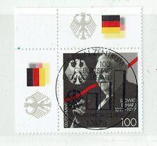 "linke, oberere Eckrandsondermarke "" Ludwig Erhard "" Mich. Nr. 1904"