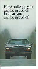 NA-010 - 1980's Cadillac Mileage Vintage Promotional Postcard Automobile Car