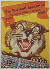 1940 College of Pacific vs. Loyola  College Football Program 10/25/40 130308