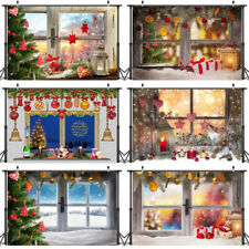 Christmas Photography Backdrop Window Snowflake Xmas Photo Background Props