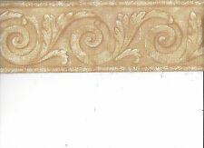 WALLPAPER BORDER TEXTURED SCROLL ARCITECTURAL MOULDING VICTORIAN NEW ARRIVAL