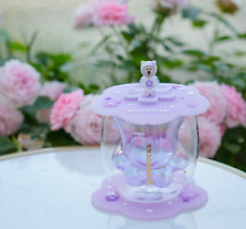 Hot Starbucks Purple Sakura Cup Coffee Glass Mug Sakura Coaster and Lid suits