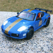 Porsche Cayman 1:32 Car Model Alloy Diecast Sound & Light Collection&Gifts Blue