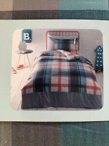 Ted Baker Single Boys Bedding Set Duvet Cover Fitted Sheet Pillow Case