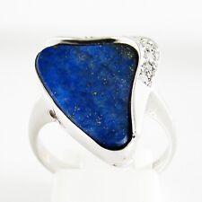 Ring Weißgold 585er Lapis Lazuli Diamanten 14 kt Edelsteine Goldschmuck Damen