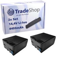 2x Batterie 4400mah pour sony pmw ex1 ex3 f3 log 100 200 bp-u30 u60 u65 u90 u95