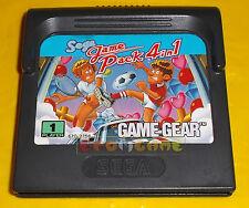 GAME PACK 4 IN 1 Sega Game Gear ○○○○○ SOLO CARTUCCIA