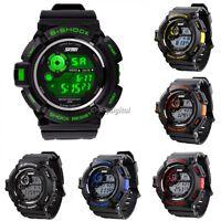 Mens NEW Waterproof  LCD Date Day Alarm Digital ARMY SPORTS Wrist WATCH