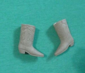 Vintage Ken Doll Clothes - MOD Era Ken Tan Cowboy Boots - Taiwan
