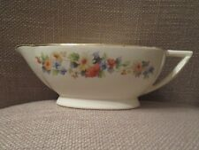 Vintage Edwin M. Knowles China Co. Hostess Floral Gravy Boat