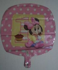 2- 18'' GIRL first BALLOONS  MINNIE MOUSE DISNEY BIRTHDAY PARTY   Revised