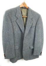 ORVIS & HARRIS TWEED Wool Sport Coat Blue Gray Herringbone 42R Jacket