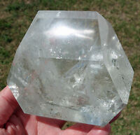 Clear Quartz PHANTOM Crystal Point w Green Chlorite Inclusions Custom Freeform