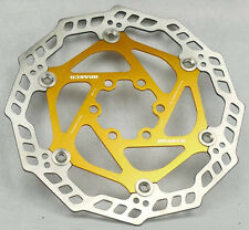 FLOATING DISC BRAKE ROTOR JAPAN  STEEL FOR AVID SHIMANO HAYES 203MM GOLD