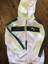 PUMA White Zipper Front Hooded Sweatshirt Size 2 NWT