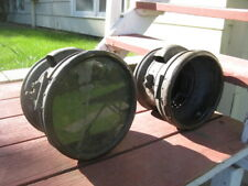 1906-12? Maxwell large brass headlights, pair, original condition to restore