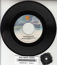 "CREEDENCE CLEARWATER REVIVAL  Bad Moon Rising CCR 7"" 45 record + jukebox strip"