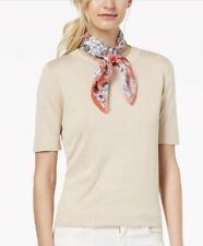 INC Go For It Floral Square Scarf, White Multi (A17-14)
